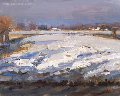 """Landscape winter 13 King winter"" original fine art by Roos Schuring"