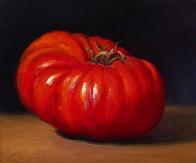 """Heirloom Tomato No. 4"" original fine art by Abbey Ryan"