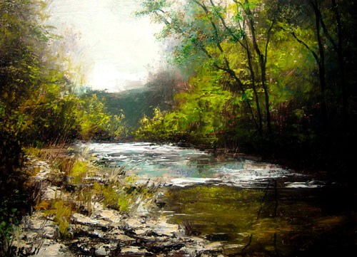 """Down-stream"" original fine art by Bob Kimball"