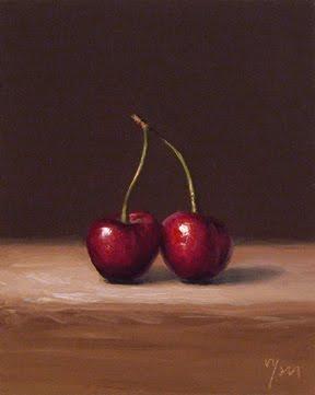 """Cherries No. 1"" original fine art by Abbey Ryan"