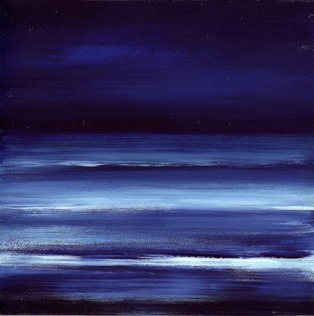 """Moon Glow - Ocean Meditation #9"" original fine art by Anne Ducrot"