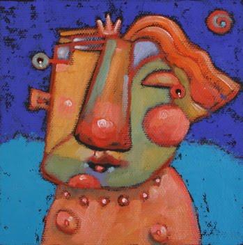 """""""Mildred Prefers To Skinny-Dip"""" original fine art by Brenda York"""