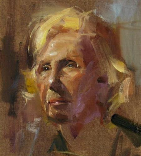 """Portrait study"" original fine art by Qiang Huang"