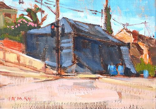 """Termite Tent, San Diego"" original fine art by Kevin Inman"