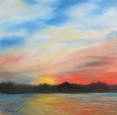 """Canadian Sunset"" original fine art by Carol Keene"