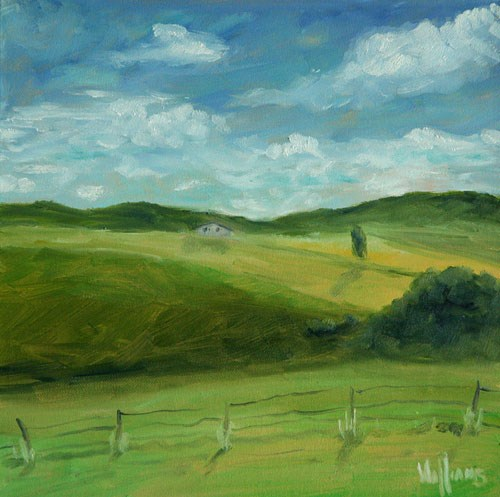 """""""View from my back porch"""" original fine art by Sunny Williams"""