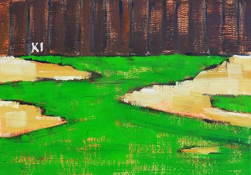 """Donna's Dead Grass"" original fine art by Kevin Inman"