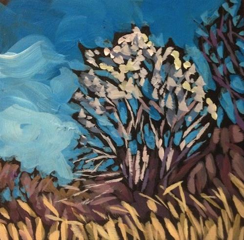 """The Silver Birch"" original fine art by Kat Corrigan"