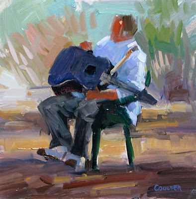 """A SINGER'S BUDDY"" original fine art by James Coulter"