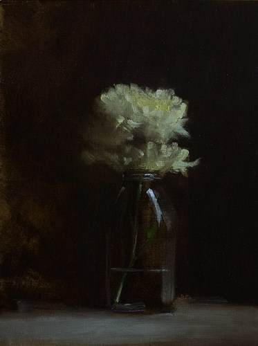 """Bottle of Mums"" original fine art by Neil Carroll"