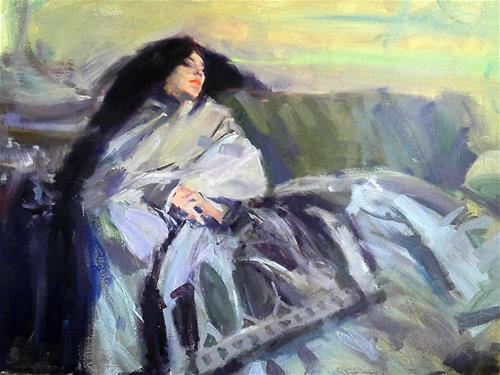 """copy of Sargent painting ''Resting''"" original fine art by Richard Schiele"
