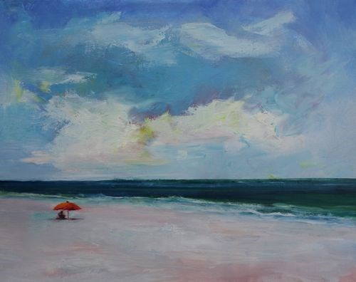 """Beach Dreams, Landscape and Seascape Paintings by Arizona Artist Amy Whitehouse"" original fine art by Amy Whitehouse"