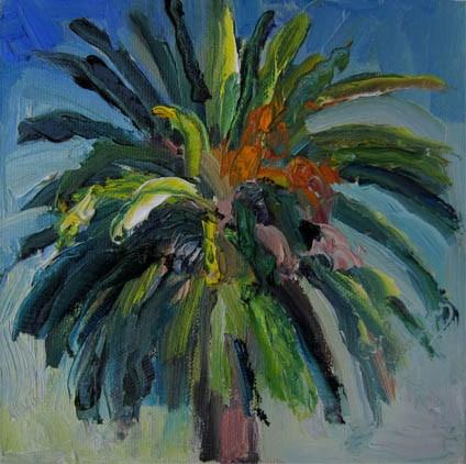 """Large Palm"" original fine art by Carol Steinberg"