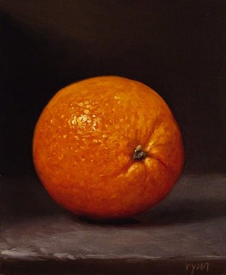"""Orange"" original fine art by Abbey Ryan"