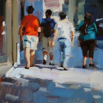 """""""City Stroll"""" original fine art by Carol Marine"""