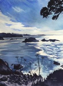 """North of Mendocino Headlands"" original fine art by Mariko Irie"