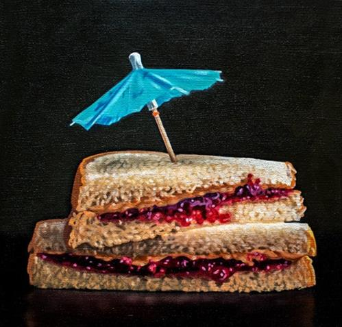 """PB&J Paradise"" original fine art by Lauren Pretorius"