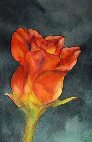 """Sunshine & Roses_10 x 6 watercolor floral"" original fine art by Donna Pierce-Clark"