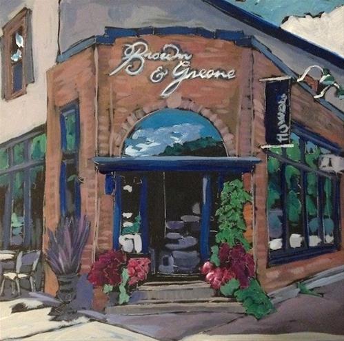 """""""Brown and Greene"""" original fine art by Kat Corrigan"""