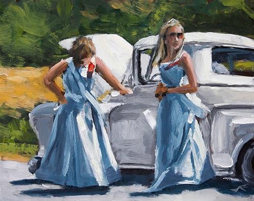 """Dairy Princesses"" original fine art by J. Farnsworth"