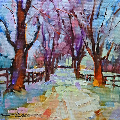 """Snow Blind SOLD"" original fine art by Dreama Tolle Perry"