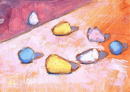 """Cadbury's Mini Eggs"" original fine art by Kevin Inman"