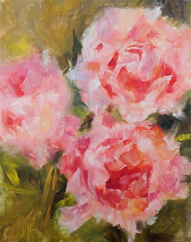 """Peony Study #4"" original fine art by Sue Churchgrant"
