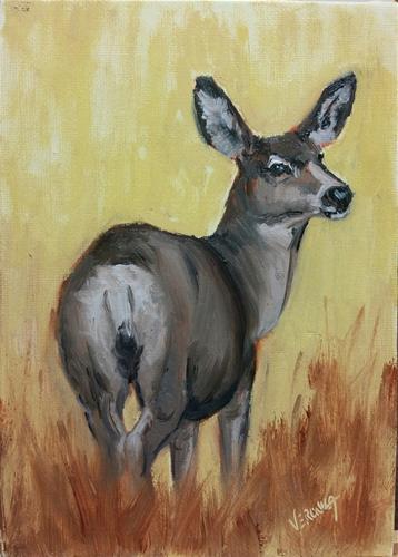 """Mulie Study 1"" original fine art by Veronica Brown"