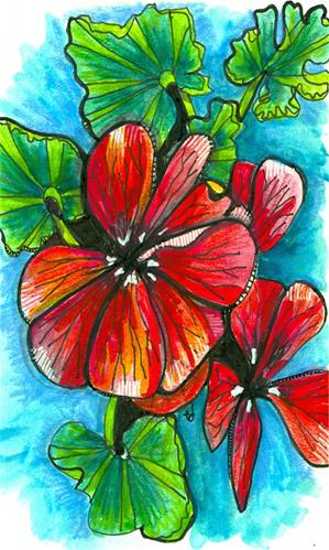 """Geranium"" original fine art by Tonya Doughty"
