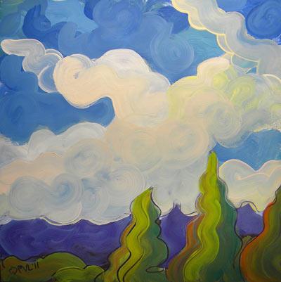 """""""Clouds 5"""" original fine art by Pam Van Londen"""