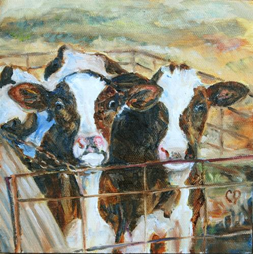 """Double Trouble"" original fine art by Carol DeMumbrum"