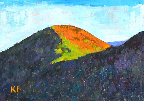 """Santa Ynez Valley Mountains"" original fine art by Kevin Inman"