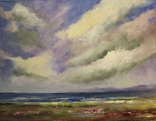 """Cloudscape, Beach and Ocean Paintings by Arizona Artist Amy Whitehouse"" original fine art by Amy Whitehouse"