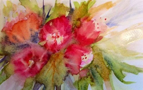 """Tulip Tango"" original fine art by Molly Rohrscheib Hathaway"