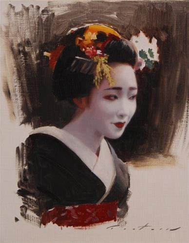 """Portrait of Mamefuji"" original fine art by Phil Couture"