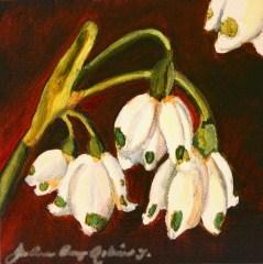 """""""Little Dew Drops"""" original fine art by JoAnne Perez Robinson"""