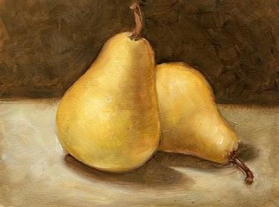 """Pears"" original fine art by Lael Henderson"