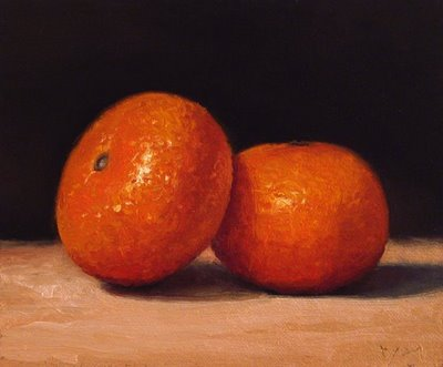 """Two Tangerines"" original fine art by Abbey Ryan"