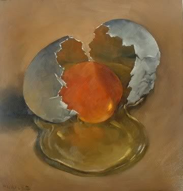 """Cracked Egg No.7"" original fine art by Michael Naples"