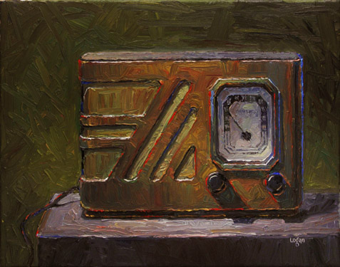 Old Philco Radio original fine art by Raymond Logan