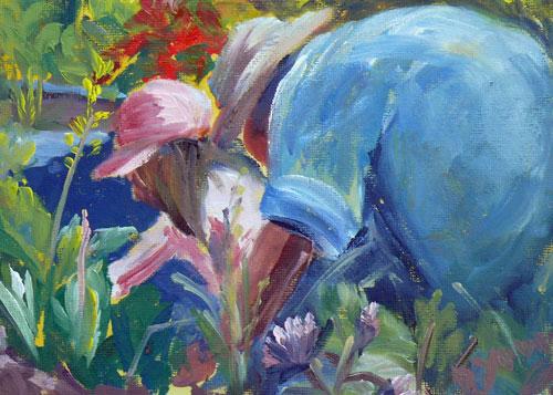 """Garden Friends"" original fine art by Darlene Young"