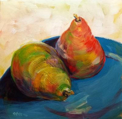 """Pears 2.2"" original fine art by Pam Van Londen"