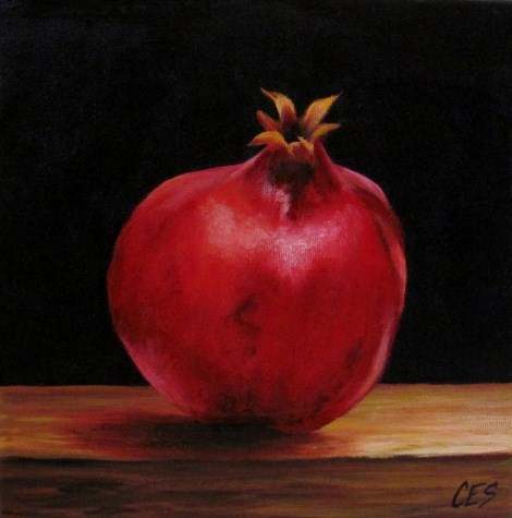 """Pomegranate"" original fine art by ~ces~ Christine E. S. Code"