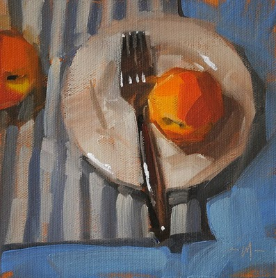 """Sacrificial Peach"" original fine art by Carol Marine"