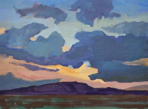 """Southwest Sunset, Contemporary Landscape Paintings by Arizona Artist Amy Whitehouse"" original fine art by Amy Whitehouse"