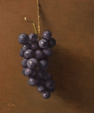 """Concord Grapes (& My Thoughts on D.C.'s National Gallery)"" original fine art by Abbey Ryan"
