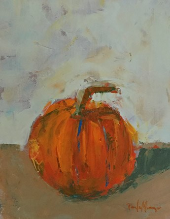 """Little Orange Pumpkin"" original fine art by Pamela Munger"