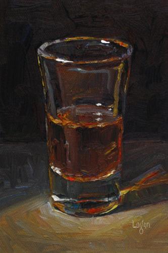"""Flared Shot"" original fine art by Raymond Logan"
