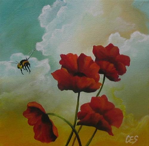 """""""Incoming"""" original fine art by ~ces~ Christine E. S. Code"""