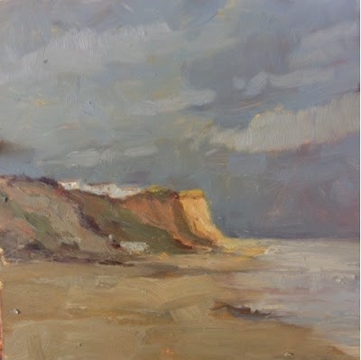 """Day 20 of 30 East Runton"" original fine art by Mo Teeuw"